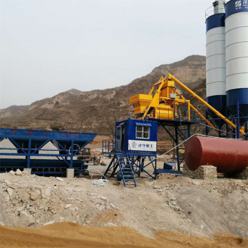 HZS25 Shandong hopper lift concrete batching plant