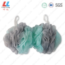 Massaging elastic sponge mesh bath ball