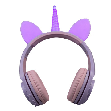 Wholesale Wireless Unicorn Headphone Led for Girls