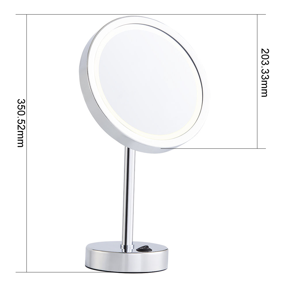 Vanity table mirror Round battery mirror