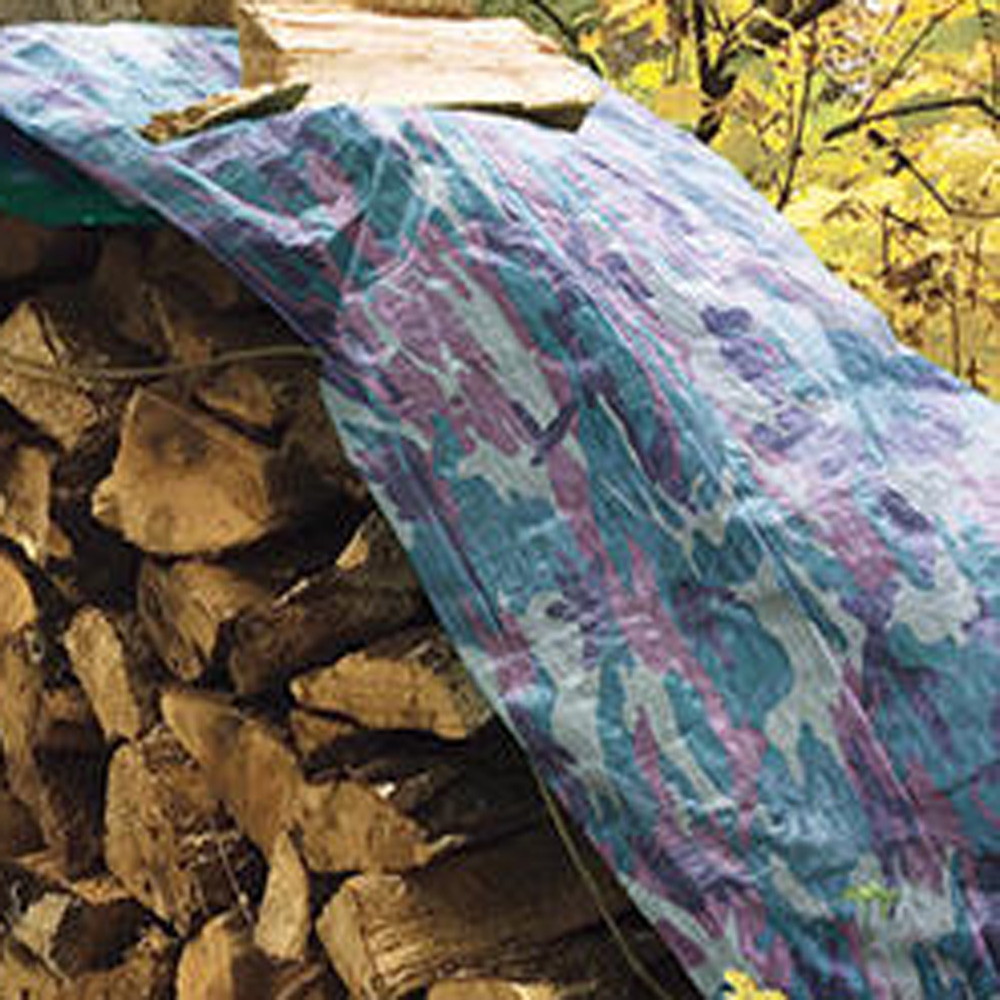 Camouflage Tarpaulin Lumber Cover