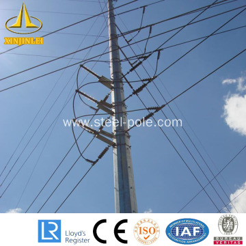 High reputation for for Steel Tubular Substation Structures Electrical Transmission Line Distribution Steel Pole export to France Supplier