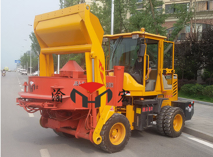 Off-road Wheeled Millstone Type Concrete Mixer