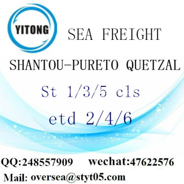 Shantou Port LCL Consolidation To Pureto Quetzal