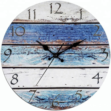 Unique design wooden MDF custom wall clock vintage wood horologe