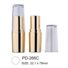 Cylindrical Empty Plastic Lipstick Container