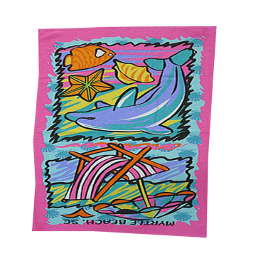 rectangular pure cotton plain cotton beach towel