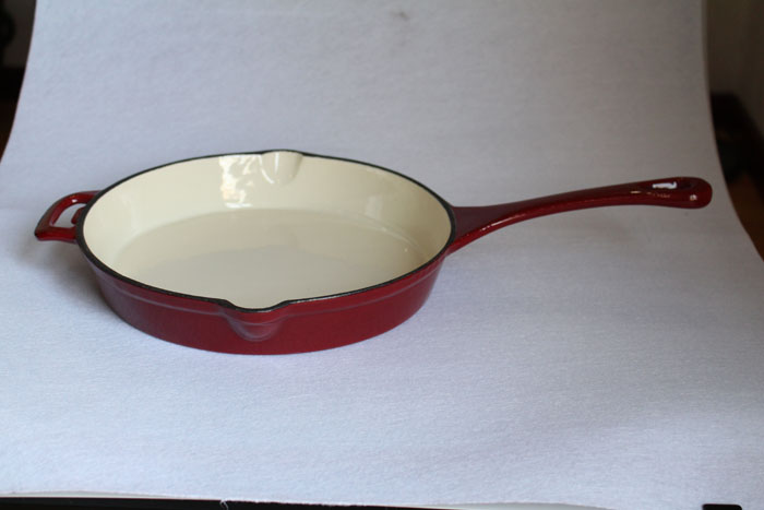 Red Cast Iron Enamel Dish