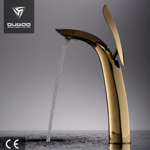 Luxury Style Golden Faucet Bathroom Basin Mixer Tap