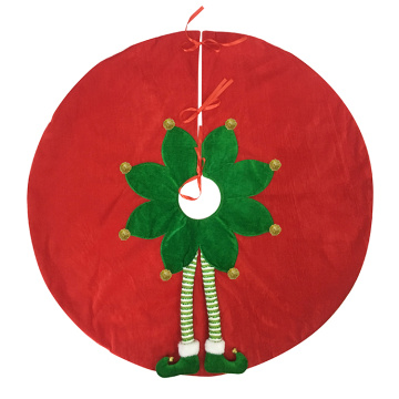 Tree skirt Golf Elf Feet red green christmas decoration