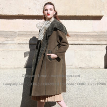 Winter Ladies Reversible Merino Shearling Overcoat