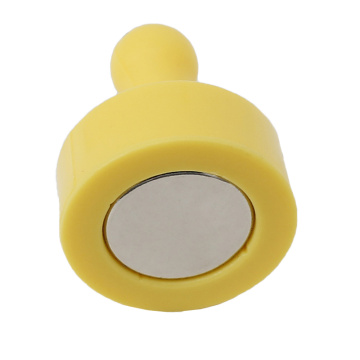 Yellow Color Pushpin Magnet for Bulletin Board