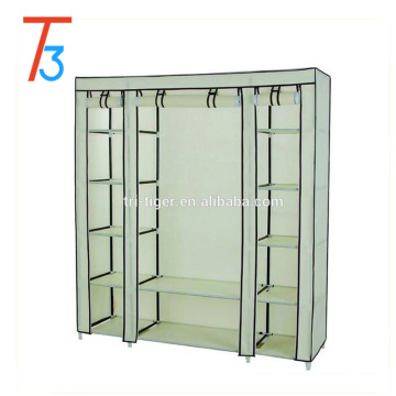 3 Door Portable Clothes Closet Wardrobe Storage Organizer