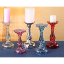 Colorful Glass Diamond Candle Stand