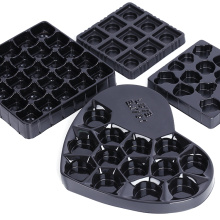 PET cavities black chocolate tray packaging serving tray