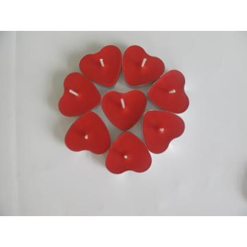 Red Heart-shaped Scented Bulk Tealight Candle