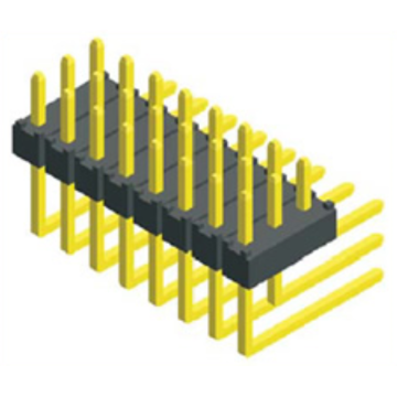 Professional for 2.0Mm Male Header Pins 2.00mm Pin Header Three Row Angle Type export to Zambia Exporter