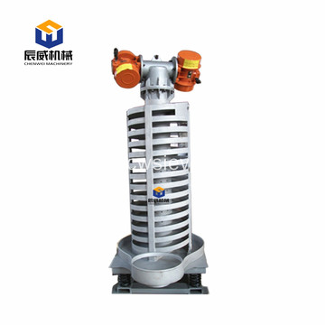 spiral elevator for food processing machinery