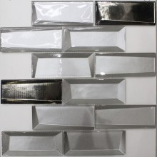 3D effect glass mosaic