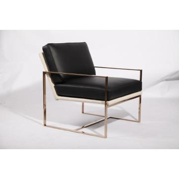 golden finished stainless steel angles chair