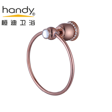 Round Bathroom Accessories Brass Towel Ring