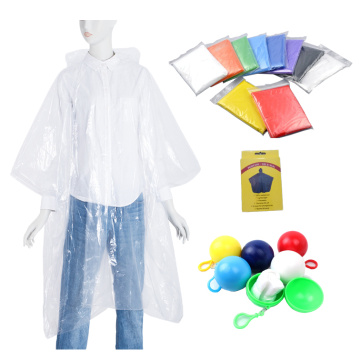 Clear PE emergency rain poncho