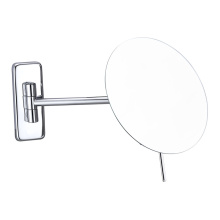 Extending round frameless wall mirror