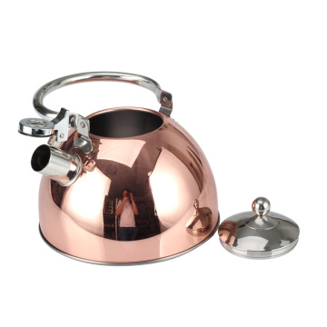 Copper Whistling Kettle with Durable Handle