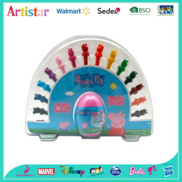 PEPPA PIG 3Dcrayons with egg