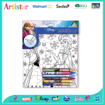 DISNEY FROZEN colouring puzzle set