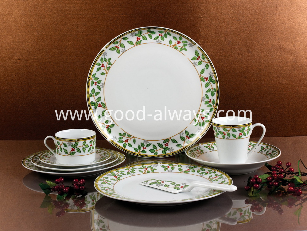 Christmas Design Porcelain Dinnerware
