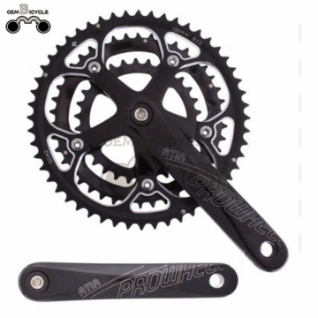 speed bicycle alloy chainwheel and crank