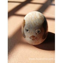 Popular Design for Stone Owl Statue Pebble stone small sculpture export to France Manufacturer