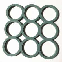 circle ring shape silicone pot mat