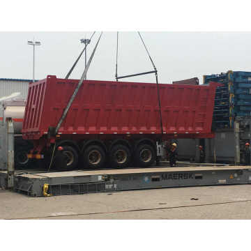 4 Axles Semi Dump Trailer 40 Cubic Meter