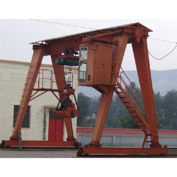 MG Double Girder Gantry Crane with Grab Bucket