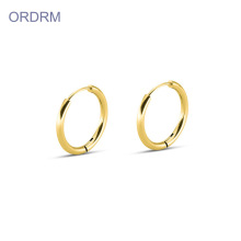 Supply for Gold Hoop Earrings Wholesale Small Gold Thin Hoop Earrings export to Indonesia Wholesale