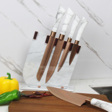 Nordic style  non stick kitchen knife set
