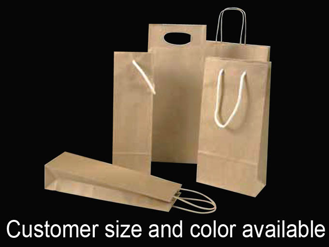 Die Cut Handle paper Wine Bag