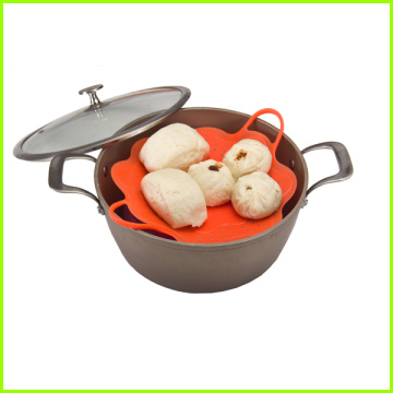 Chinese Professional for China Silicone Steamer,Kitchen Cooking Steamer,Best Food Steamer Exporters Heat Resistant BPA Free Silicone Steamer Basket supply to Austria Factory