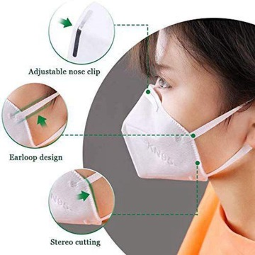 Máscara facial médico desplegable Kn95