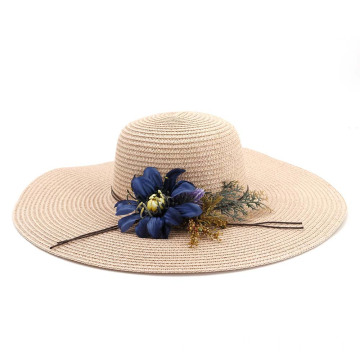 Plain style summer straw hat blank custom hat