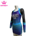 Cut And Sewn Sublimated Blue Cheerleader Outfit