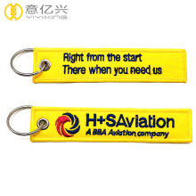 custom embroidered key tags personalized fabric keychains