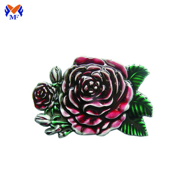 Rose flower custom design belt buckle