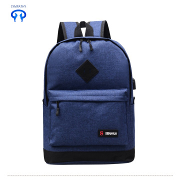 New man usb backpack middle school backpack