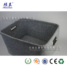 Good quality felt storage basket bag with handle
