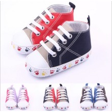 Popular Design for for Baby Cotton Shoes canvas moccasins for new born baby export to Morocco Exporter