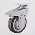 medical caster wheel,hospital bed caster,caster with central lock