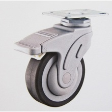 Plastic medical TPR caster wheel swivel plate brake